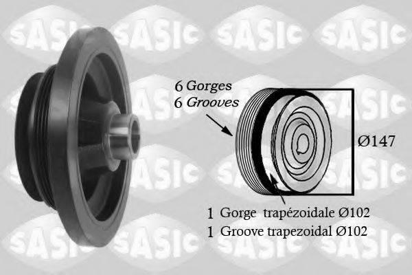 SASIC 2156060 Ременный шкив, коленчатый вал