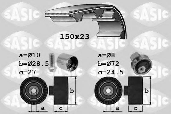 SASIC 1756053 Комплект ремня ГРМ