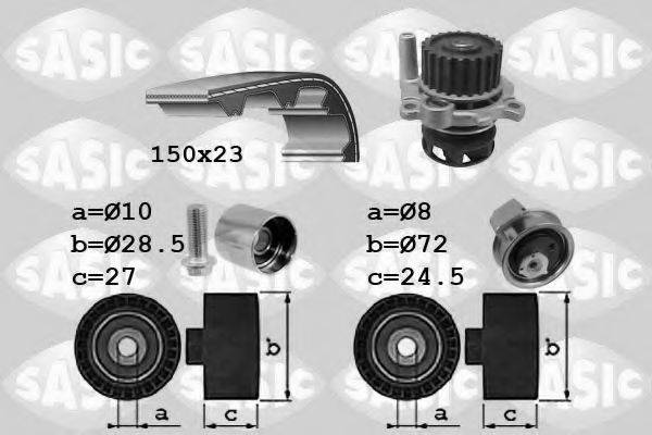 SASIC 3906063 Водяной насос + комплект зубчатого ремня