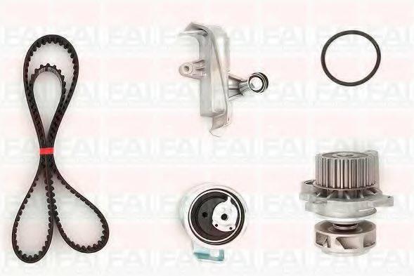 FAI AUTOPARTS TBK3856128 Водяной насос + комплект зубчатого ремня