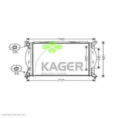KAGER 310036 Радиатор, охлаждение двигателя