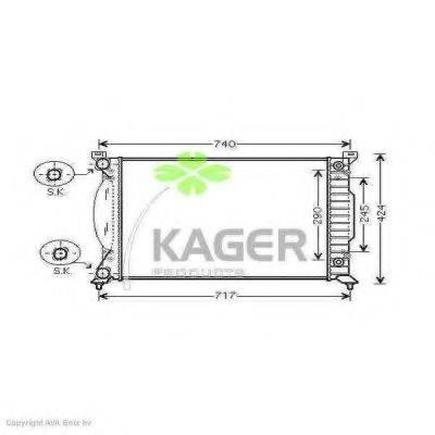 KAGER 310038 Радиатор, охлаждение двигателя