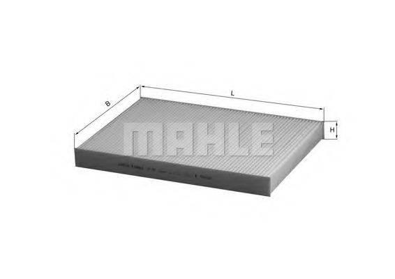 MAHLE ORIGINAL LA93 Фильтр, воздух во внутренном пространстве
