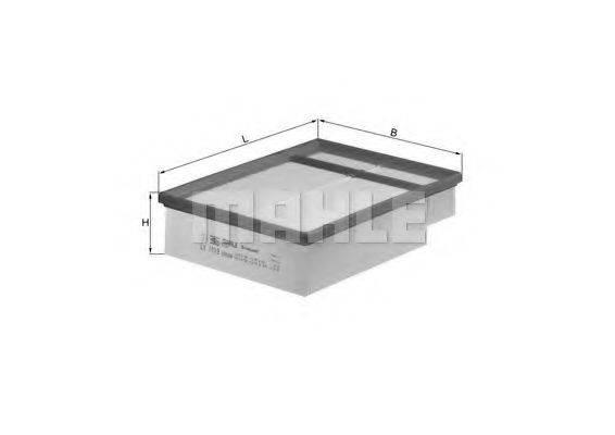 MAHLE ORIGINAL LX1019 Воздушный фильтр
