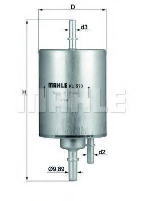 MAHLE ORIGINAL KL570 Топливный фильтр
