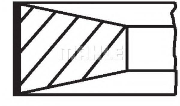 MAHLE ORIGINAL 00988N0 Комплект поршневых колец