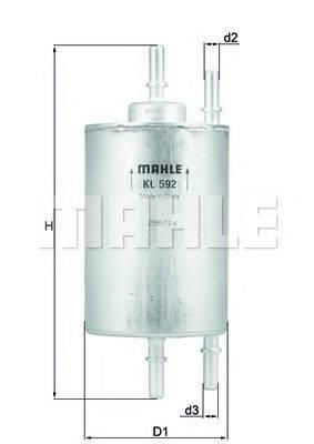 MAHLE ORIGINAL KL592 Топливный фильтр