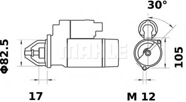 MAHLE ORIGINAL MS82 Стартер