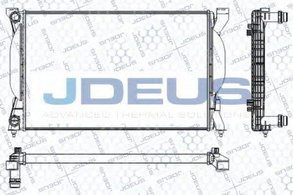 JDEUS RA0010241 Радиатор, охлаждение двигателя