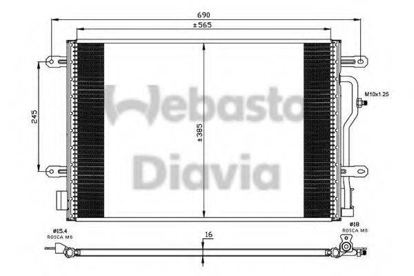 WEBASTO 82D0225505A Конденсатор, кондиционер