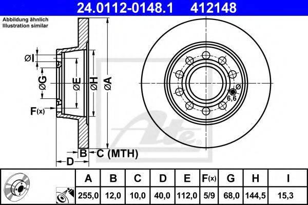 ATE 24011201481 Тормозной диск