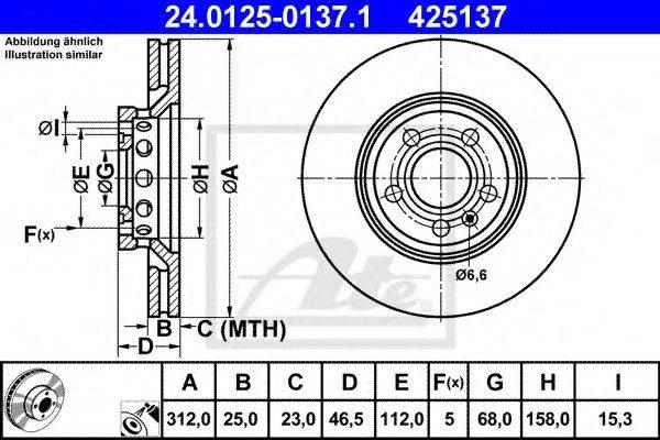 ATE 24012501371 Тормозной диск