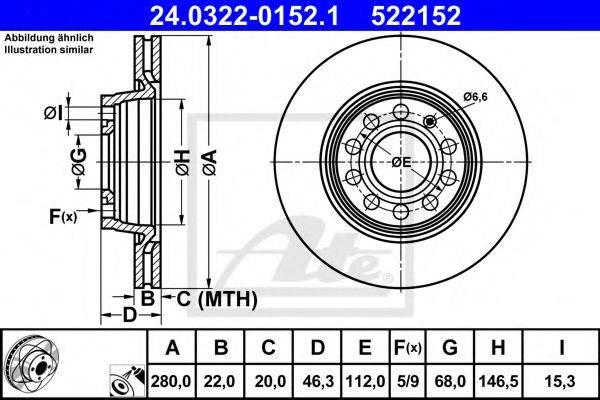 ATE 24032201521 Тормозной диск