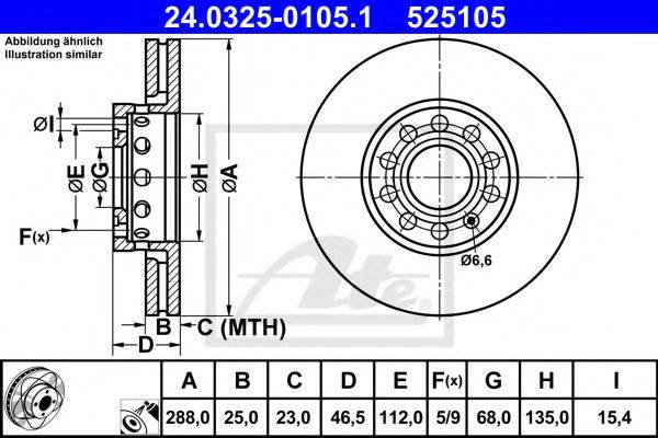 ATE 24032501051 Тормозной диск