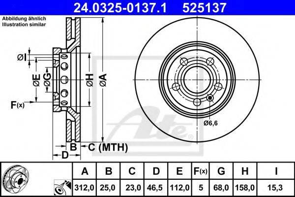 ATE 24032501371 Тормозной диск