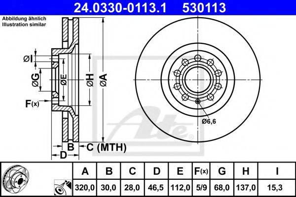 ATE 24033001131 Тормозной диск