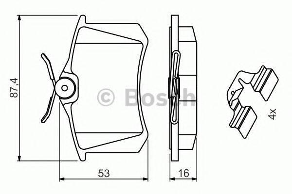 BOSCH 0986494600 Комплект тормозных колодок, дисковый тормоз
