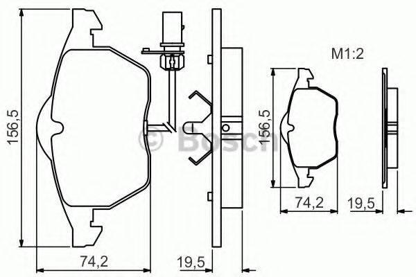 BOSCH 0986495232 Комплект тормозных колодок, дисковый тормоз