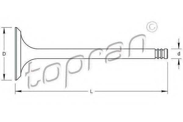 TOPRAN 107132 Выпускной клапан