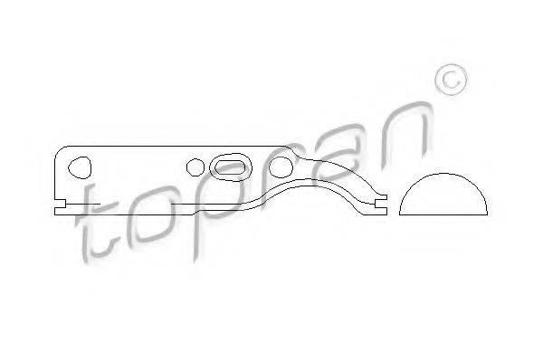 TOPRAN 109652 Прокладка, натяжное приспособление цепи привода