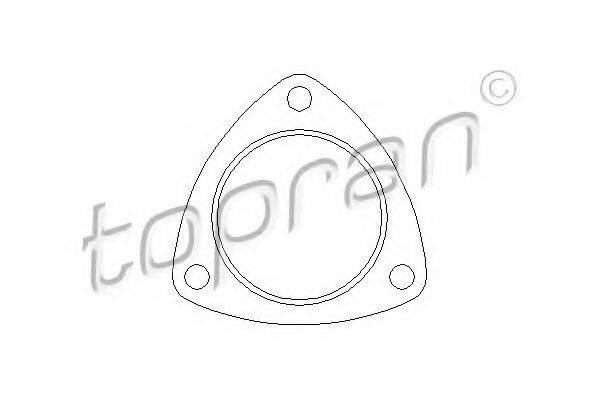 TOPRAN 107211 Прокладка, труба выхлопного газа
