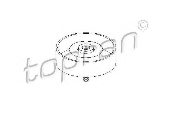 TOPRAN 110097 Паразитный / ведущий ролик, поликлиновой ремень