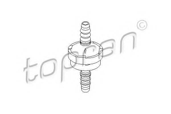 TOPRAN 112283 Клапан, управление воздуха-впускаемый воздух