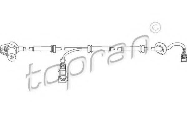 TOPRAN 110485 Датчик, частота вращения колеса