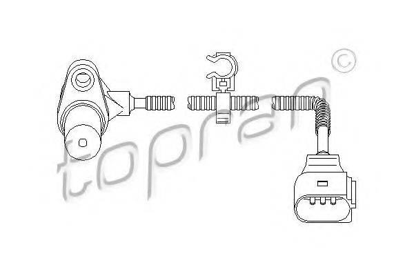 TOPRAN 111379 Датчик частоты вращения, управление двигателем