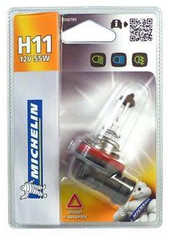 MICHELIN 008799 Лампа накаливания, основная фара; Лампа накаливания, противотуманная фара