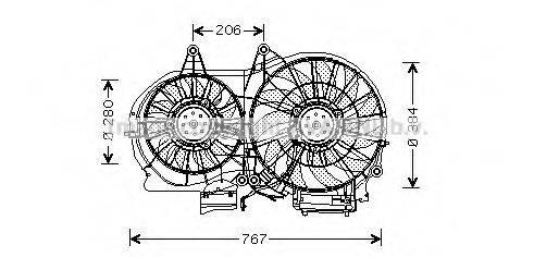PRASCO AI7506 Вентилятор, охлаждение двигателя