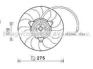 PRASCO AI7515 Вентилятор, охлаждение двигателя