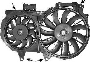 VAN WEZEL 0325750 Вентилятор, охлаждение двигателя