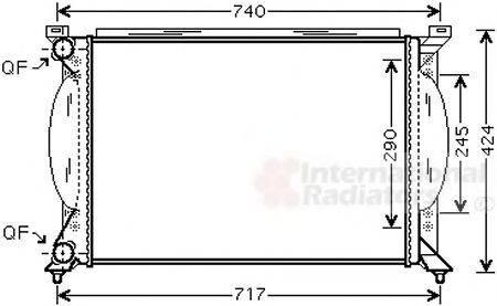 VAN WEZEL 03002195 Радиатор, охлаждение двигателя