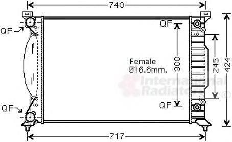VAN WEZEL 03002202 Радиатор, охлаждение двигателя