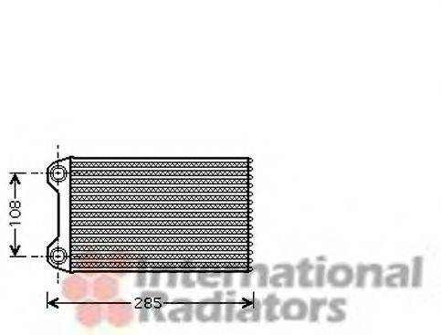 VAN WEZEL 03006223 Теплообменник, отопление салона