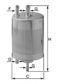 UNIFLUX FILTERS XB351 Топливный фильтр