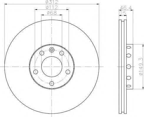 TEXTAR 92106105 Тормозной диск