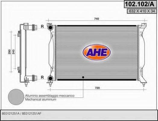AHE 102102A Радиатор, охлаждение двигателя
