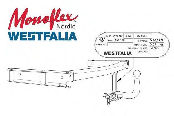 MONOFLEX 305205 Прицепное оборудование