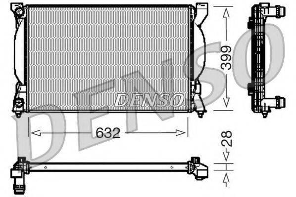 NPS DRM02033 Радиатор, охлаждение двигателя