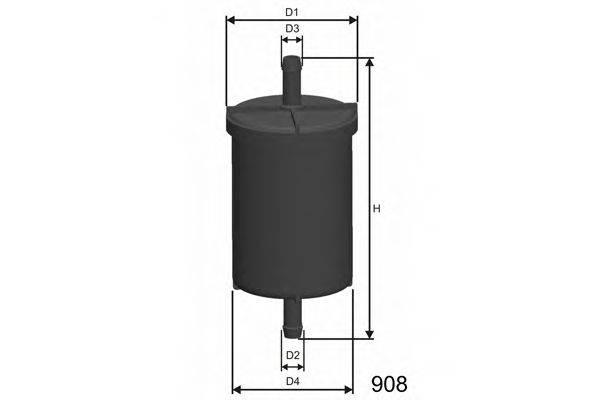 MISFAT E718 Топливный фильтр