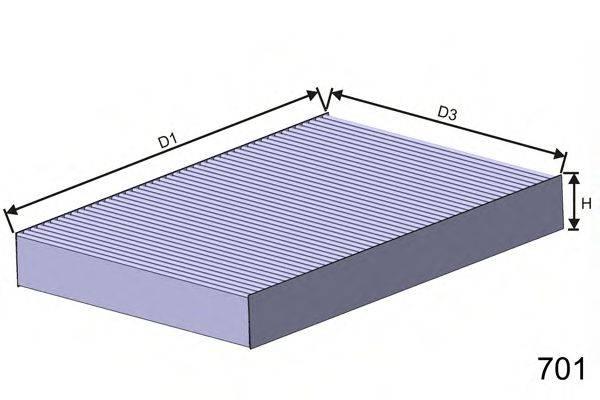 MISFAT HB149C Фильтр, воздух во внутренном пространстве