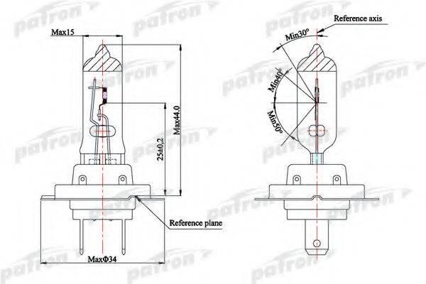 PATRON PLH71255 Лампа накаливания, фара дальнего света; Лампа накаливания, основная фара; Лампа накаливания, противотуманная фара; Лампа накаливания, основная фара; Лампа накаливания, фара дальнего света; Лампа накаливания, противотуманная фара; Лампа накаливания, фара с авт. системой стабилизации; Лампа накаливания, фара с авт. системой стабилизации