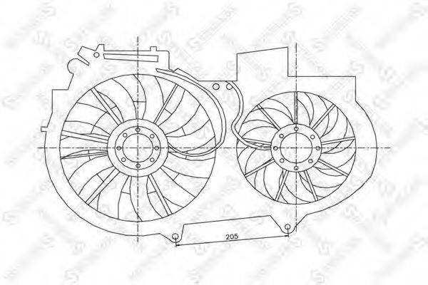 STELLOX 2999272SX Вентилятор, охлаждение двигателя