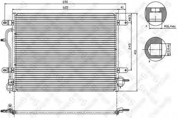 STELLOX 1045071SX Конденсатор, кондиционер