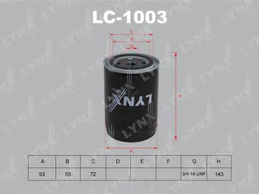 LYNXAUTO LC1003 Масляный фильтр