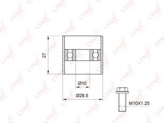 LYNXAUTO PB3003 Паразитный / Ведущий ролик, зубчатый ремень