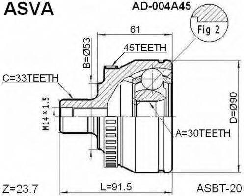 ASVA AD-004A45