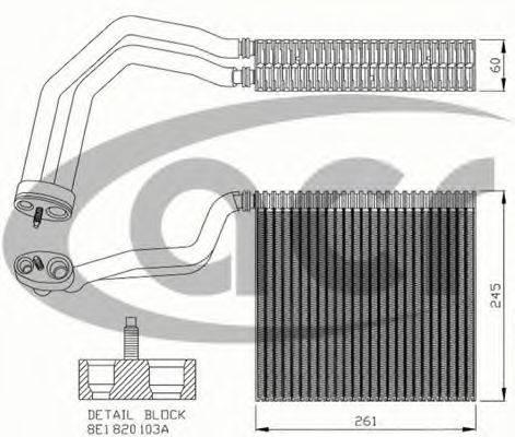 ACR 310169 Испаритель, кондиционер